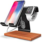 Gruichi Apple Watch Stand, Desktop Cell Phone Stand iWatch Charging Dock for iPhone X 6 6s 7 8 Plus, Samsung, Android Smartphone, Nintendo Switch, iPad E-reader and Tablet