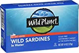 Wild Planet, Wild Sardines in Water, No Salt Added, 4.4 Ounce (Pack of 12)