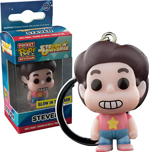 Funko - Porte Cle Steven Universe - Steven Glow In The Dark Exclu Pocket Pop 4cm - 0849803094