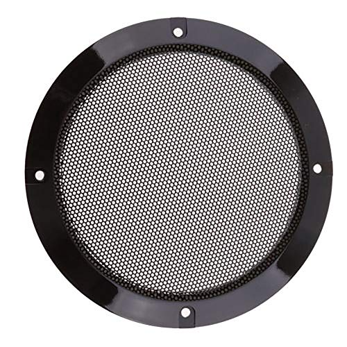 - Refaxi 6.5 inch Speaker Cover Metal Mesh Grille Protection Decorative Circle Black