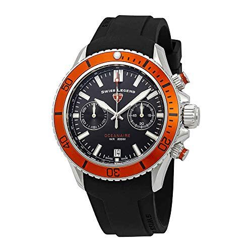 Swiss Legend Oceanaire Chronograph Black Dial Watch - Men Legend Watches Swiss