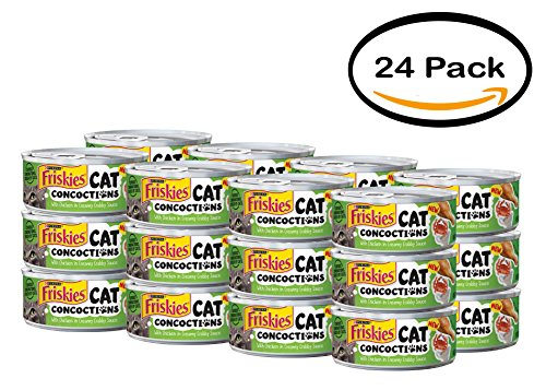 PACK OF 24 - Purina Friskies Cat Concoctions with Chicken in Creamy Crabby Sauce Cat Food 5.5 oz. Can by Purina Friskies