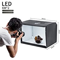 LITOP Portable Photo Studio 20x16x16 Shooting Tent Box Kit with Adjustable LED Strip Lights for Product Photography Backdrops