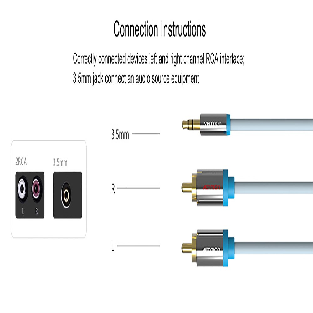Vention Rca Jack Cable 2 Male To 3 5 Audio 5mm Wiring Electronics