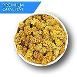 NEUE ERNTE Weiße Maulbeeren getrocknet - Unbehandelte Qualität | ungeschwefelt | ohne Pestizide | ohne Zusatzstoffe | Rohkostqualität | 100% naturbelasse Trockenfrüchte | Vegan | 1001 Frucht - 250 GR