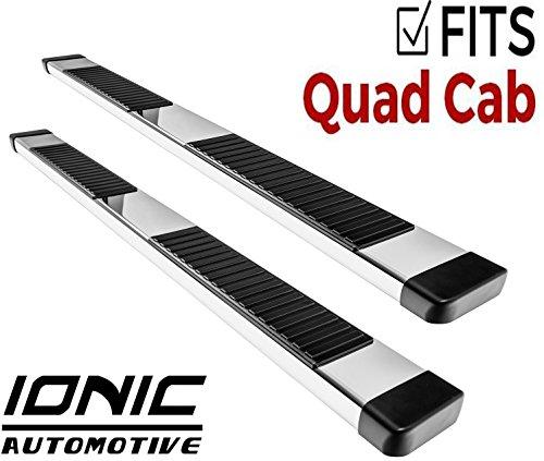 Ionic 51 Series Brite Running Boards 2015-2018 Dodge Ram Quad Cab