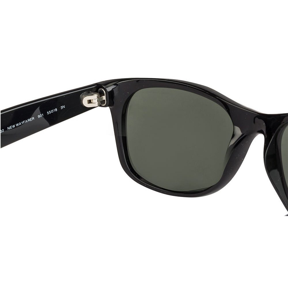 9854abd68b Amazon.com  Ray Ban RB2132 901L NEW WAYFARER 55mm Sunglasses - Size  55--18--145  - Color  Black Frame  Crystal Green Lens   Shoes