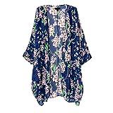 SWEATER womens Amazon, модель OLRAIN Women's Floral Print Sheer Chiffon Loose Kimono Cardigan Capes, артикул B0171DAAVM
