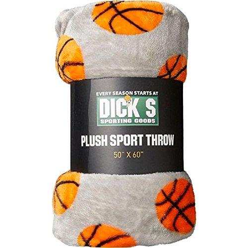 Sporting Goods Plush Sport Throw Blanket  Basketball  Dimensions  50  X 60