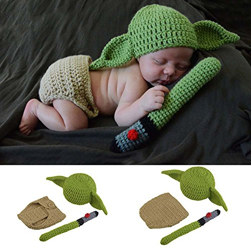 Osye Baby Crochet Knitted Outfit Elf Costume Set Photography Props -