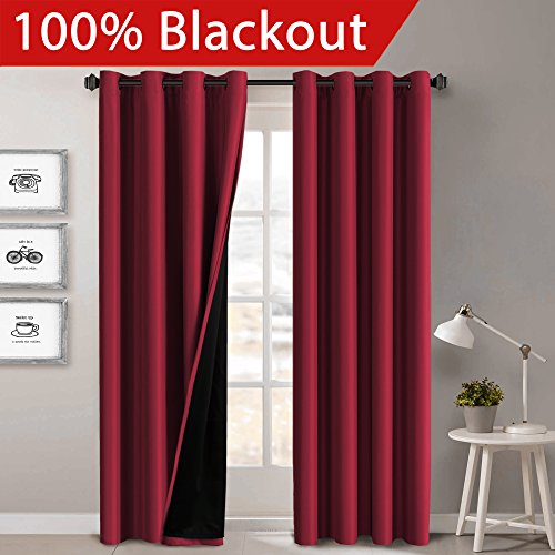 red and gray curtains - 9