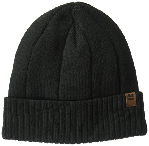 Timberland Mens Heathered Ribbed Watchcap, black, One Size