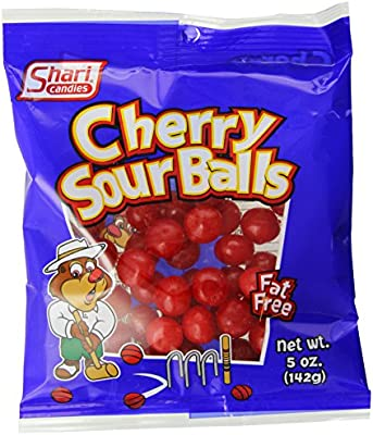 Amazon Com Shari Cherry Sour Balls 5 Ounce Bags Pack Of 12 Candy Grocery Gourmet Food