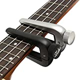 Universal Zinc Alloy Guitar Capo Change Tune Key Clamp Tone One Hand Adjusting Clip for All Guitars Ukuleles Silver
