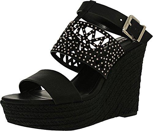 BCBGeneration Women's Suzie Wedge Sandal,Black,8.5 M US