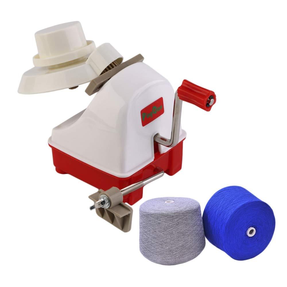 Davitu Portable Swift Woolen Yarn Winding Machine Holder for String Ball Wool Winder Handle Handheld Hand Operated Kit