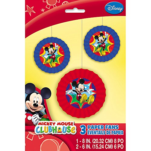 Mickey Mouse Clubhouse Paper Fan Decorations, 3ct