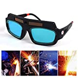 Solar Powered Safety Goggles, Dokfin Eyes Protection Auto Darkening Welding Eyewear Welder Glasses for Welding, Soldering, Torching, Polishing, Brazing & Metal Cutting