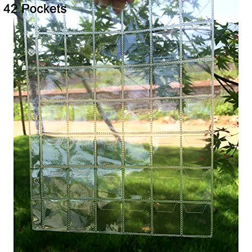 dezirZJjx Storage Container Premium 20/30/42 Pockets Clear Ring Coin Holder Album Badge Per Page Money Collection - 42 Pockets ()