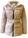 NEW WOMENS LADIES PLUS SIZE QUILTED PADDED BUTTON ZIP JACKET COAT TOP SIZE 8, 10, 12, 14, 16, 18, 20, 22, 24, 26