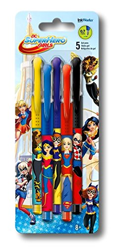 DC Super Hero Girls Colored Gel Pens (5 Pack)