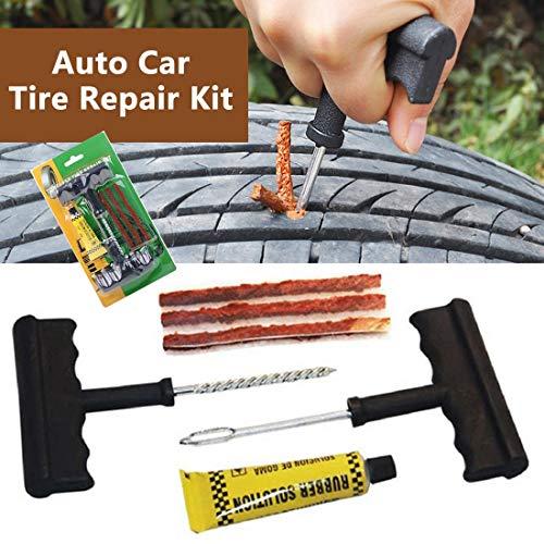 JINDUE: Tire Repair Tools Kit 6Pcs Car Accessories Auto Bike Auto Tubeless Tire Tyre Repair Kit Puncture Plug Repair Kit Hand Tool Set