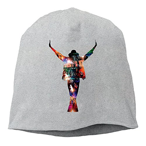 Caromn King Of Pop Michael Beanies Skull Ski Cap Hat Ash ()