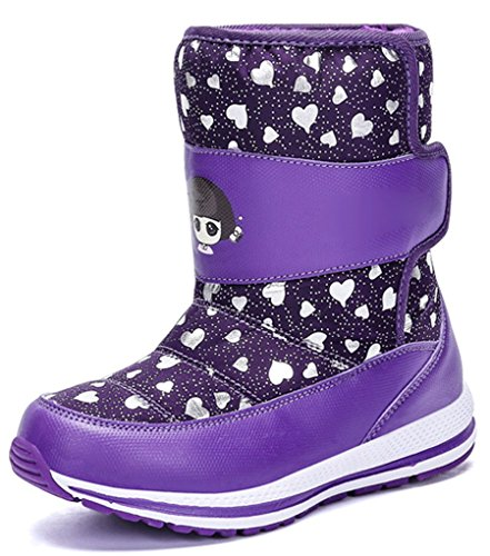 Girls Boot Snow Cartoon Fashion Boot Boot Short New Thickened Inventory Printed Waterproof Pointss Sneaker Snow Hiking Cotton Style Purple Casual wRqdItI