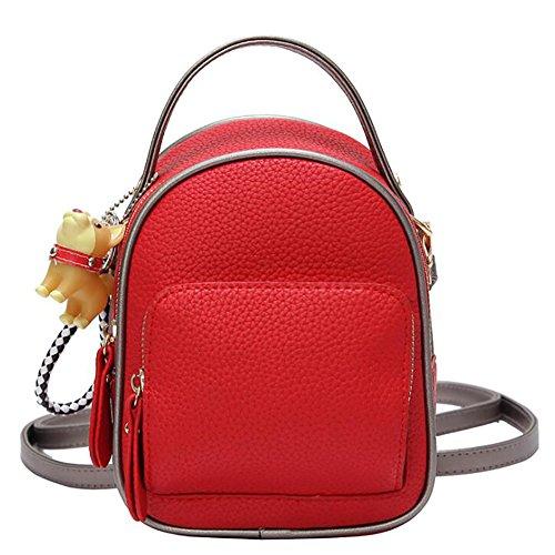 main 20cm dos décontracté multifonctionnel Sac 16 PU en 11 à de sac à souple cuir mode sac femmes de xPPYwU6q