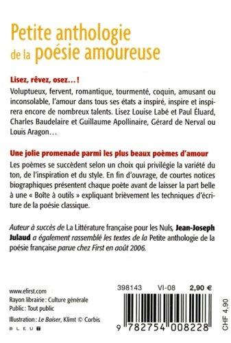 Petite Anthologie De La Poésie Amoureuse Le Petit Livre