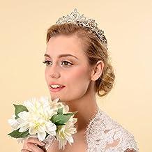 Topwedding Rhinestones Crystal Wedding Crown Crystal Bridal Tiara Headpieces Headband Accessories