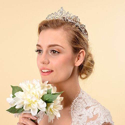 - Topwedding Rhinestones Wedding Crown Crystal Bridal Tiara Headpiece Headband Hair Jewelry Women Girls