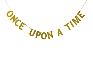 Amazon Com Once Upon A Time Bunting Banner Wedding Engagement