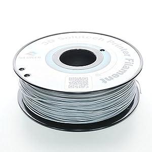 3D Solutech Real Grey 1.75mm ABS 3D Printer Filament 2.2 LBS (1.0KG) - 100% USA from 3D Solutech