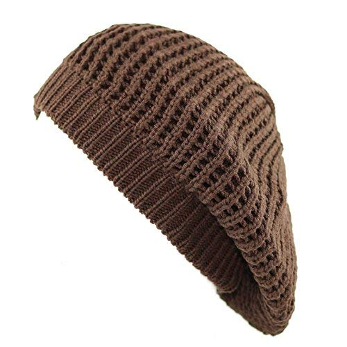 1eb8654f46e7b THE HAT DEPOT 200H-008 Knit Beret Tam Hat (Brown) at Amazon Women s ...