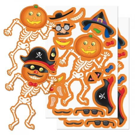 Current Build a Jack-O-Lantern Halloween Stickers - 12 Sheets - 4-1/2