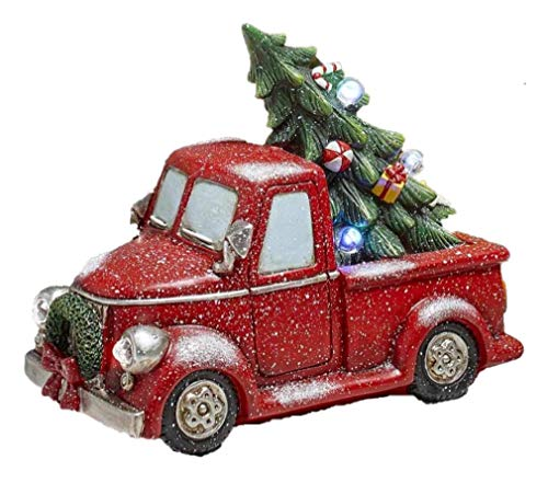 (The Lakeside Collection Lighted Decorations - Red Pick Up Truck)