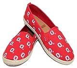 NCAA Ohio State University Buckeyes Womens Ohio State University Buckeyesespadrille Canvas Shoe - Womens, Red, Small
