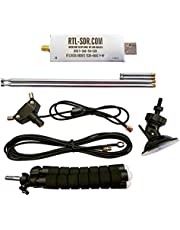 RTL-SDR Blog V3 R820T2 RTL2832U 1PPM TCXO HF Bias Tee SMA Software Defined Radio with Dipole Antenna Kit