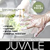 100-Piece Disposable Gloves – Latex Free Plastic