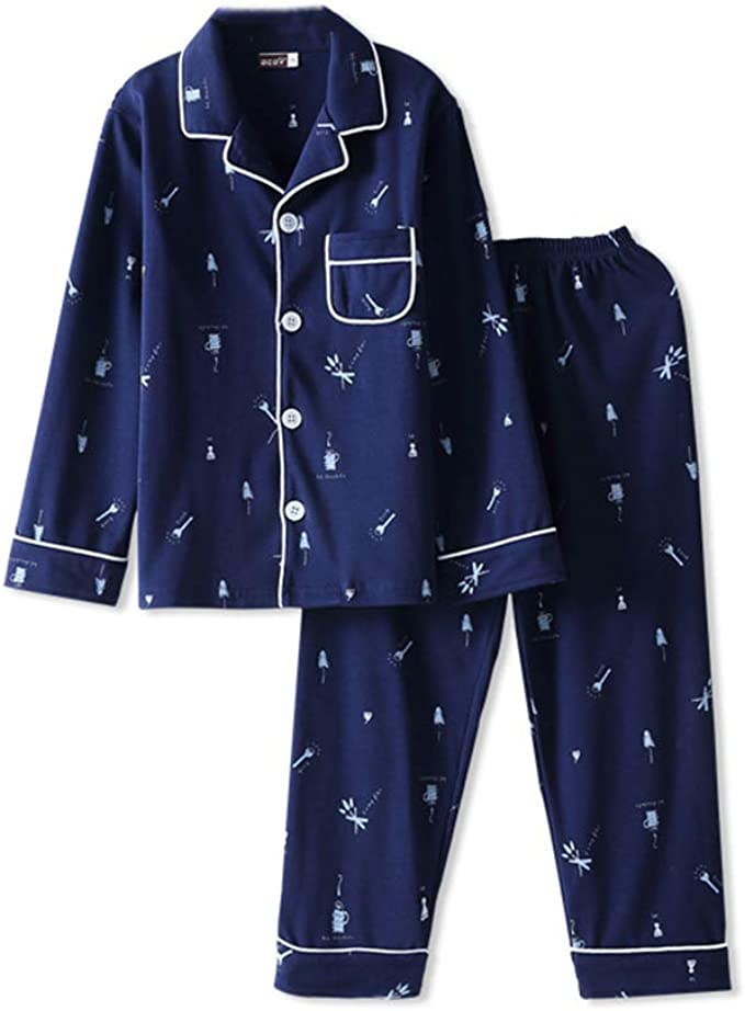 Niño Conjunto de Pijama Ropa de Dormir de Algodón para Niños Niñas: Amazon.es: Ropa y accesorios