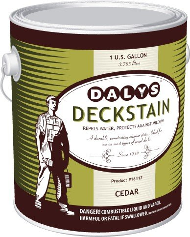 Daly's DeckStain Alkyd Based Wood Deck Stain, DRIFTWOOD, - Stain Alkyd