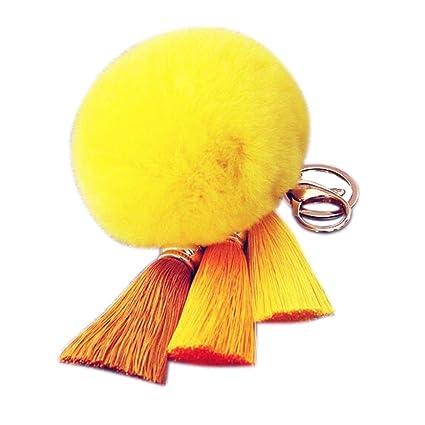 Amazon.com: Voberry® Llavero imitan Piel de conejo Ball ...
