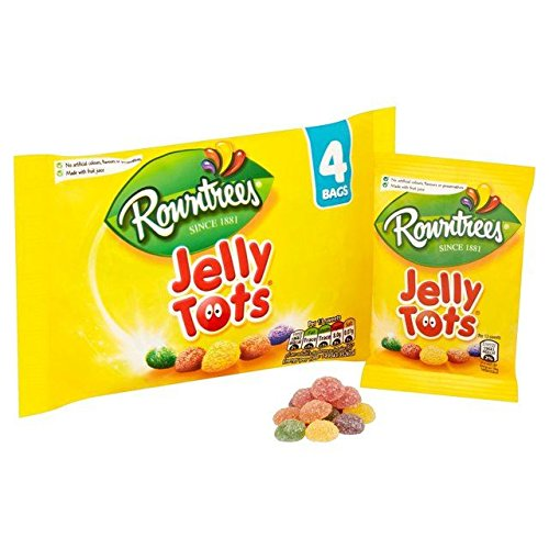 Rowntree's Jelly Tots Multipack 4 x 28g - Pack of 6