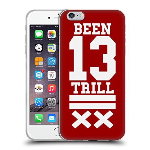 Official Been Trill Red X Jersey Soft Gel Case for Apple iPhone 6 Plus / 6s Plus
