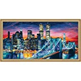 Schipper 9220 369 - Painting by Number, Manhattan at Night, 40x80 cm by Reulein