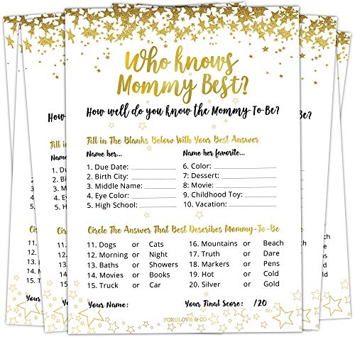 30 Who Knows Mommy Best Baby Shower Game