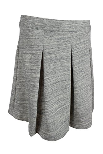 Tommy Hilfiger Women's Grey Heather Inverted Box Pleats Knit Skirt, M