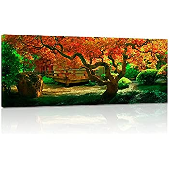 ddc373aa4bb7 Visual Art Decor Autumn Maple Forest Landscape Painting Picture Prints  Nature Tree Canvas Wall Art Living Room Bedroom Office Home Wall Decoration  (03)