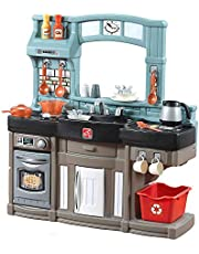 Step2 Best Chefs Kitchen Playset | Kids Play Kitchen with 25-Pc Accessory Set | Real Lights & Sounds